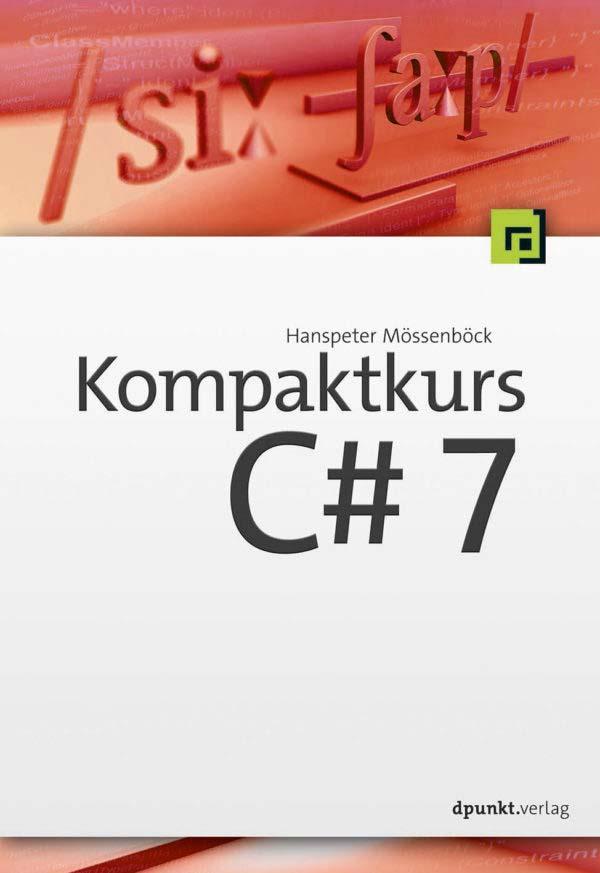 Mössenböck: Kompaktkurs C# 7