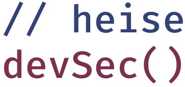 heise devSec – Die Konferenz für sichere Software- und Webentwicklung