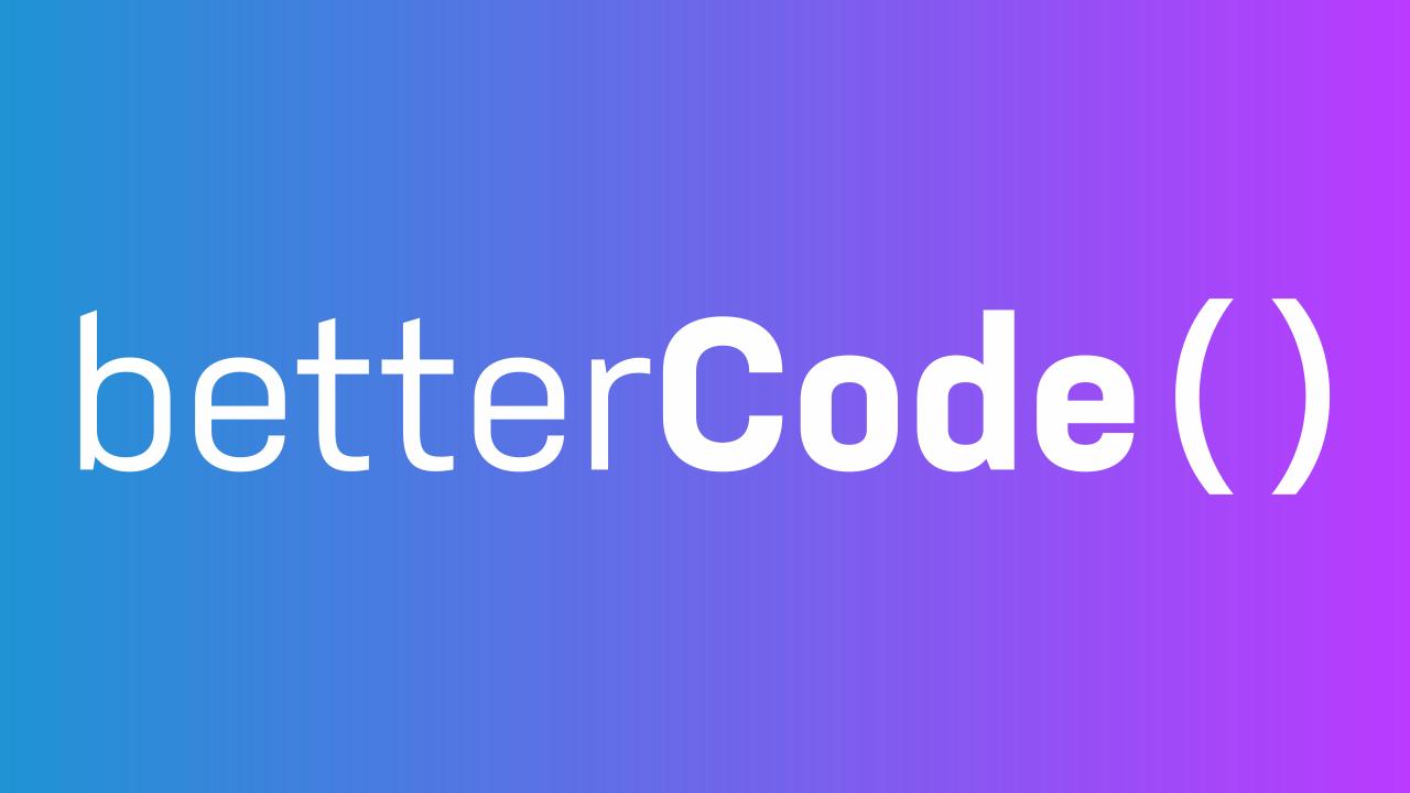 betterCode ( ) – API 2021